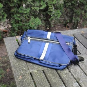Blue JPK canvas tote bag